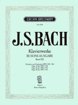 J.S.BACH - KLAVIERWERKE (BUSONI-AUSGABE)